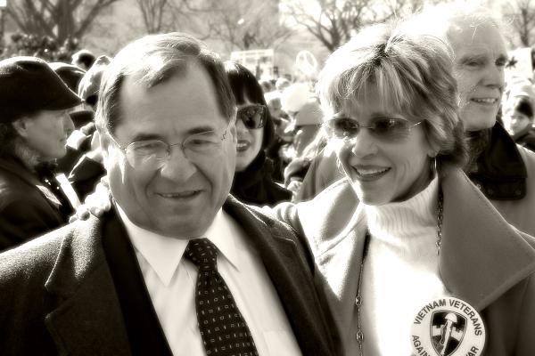 Jane Fonda and Jerrold Nadler