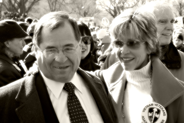 Jane Fonda and Jerrold Nadler